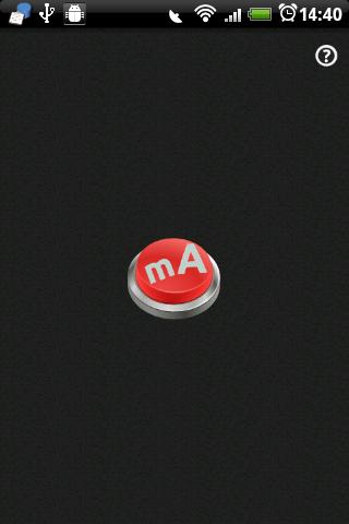Écran principal de l'application Android